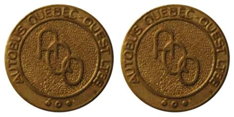 Coins and Canada - Transportation tokens - Train, transit