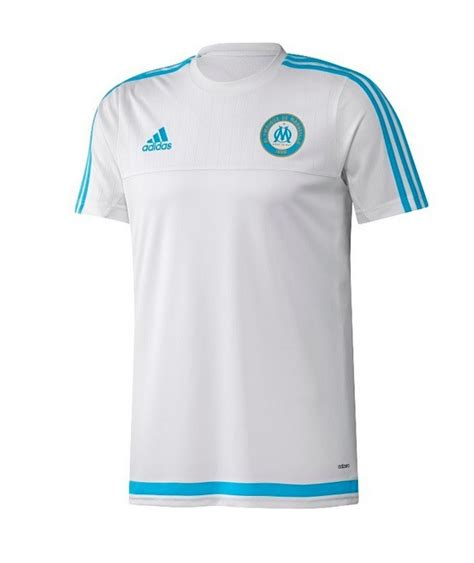 ADIDAS OM MAILLOT ENTRAINEMENT BLANC 2015/2016 - Olympique