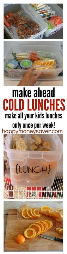 Make Ahead Cold Lunches {A Week's Worth of Lunches in a
