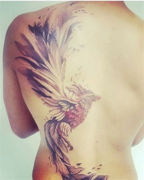 Amazing Phoenix tattoo by Aaron Clarke at Monumental Ink