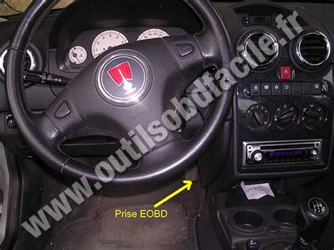 OBD2 connector location in Rover 25 (1999-2005) - Outils