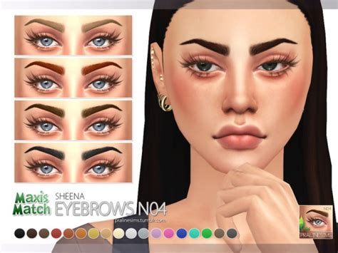 The Sims Resource: Maxis Match Eyebrow Pack N01