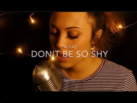 Imany - Don't be so shy / cover by Tanaë - YouTube