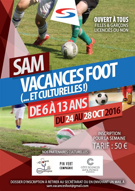 Stages vacances - SAM Football
