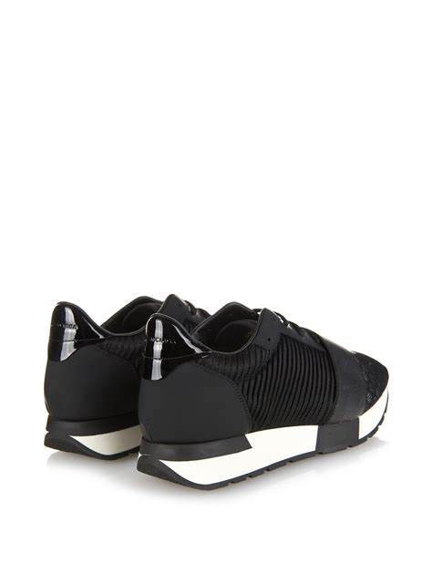 Lyst - Balenciaga Multi-Panel Low-Top Trainers in Black