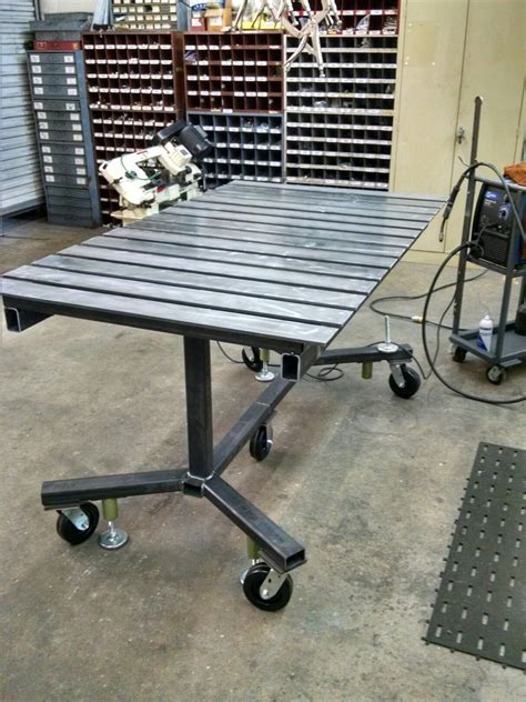 Welding table project I built at work, mobile or