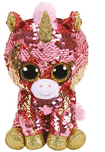 Ty- Flippables Small-Peluche Sequins Sunset la Licorne