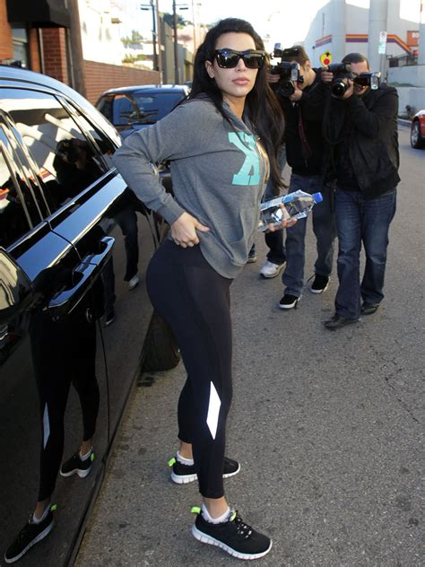 Pregnant Kim Kardashian hits the gym for the second day in