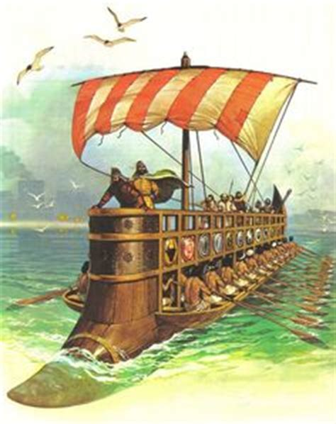 Cross-section of a Greek Trireme