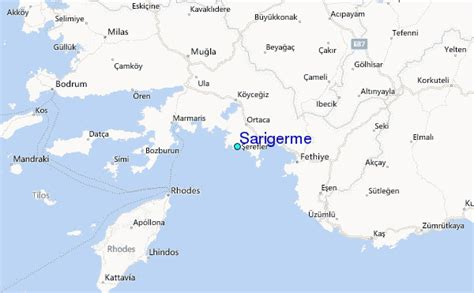 Sarigerme Tide Station Location Guide