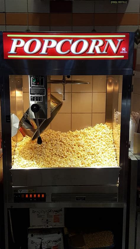 movie theater popcorn machine   A concessions stand