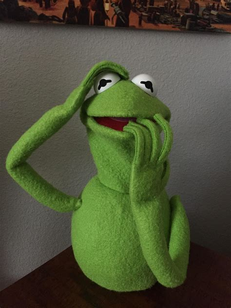 Hand stitched Kermit the Frog puppet replica!! (Early
