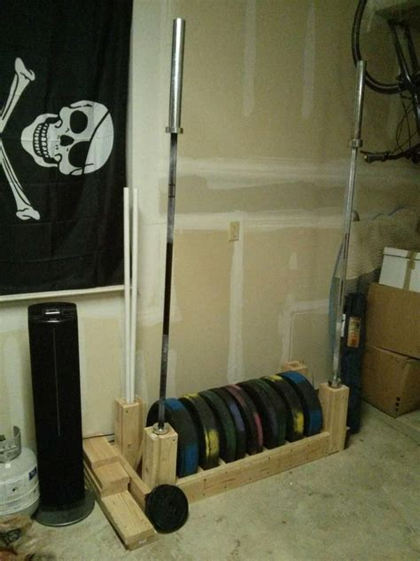 DIY Bumper Plate and Barbell Storage