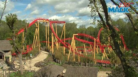 Le Twist, Spinning Coaster, Parc le Pal - YouTube