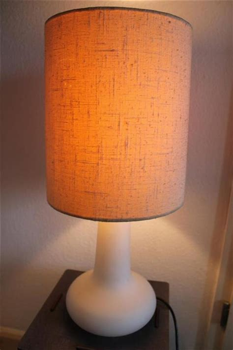 Original 60s or 70s Vintage Table Lamp with Organic Opaline