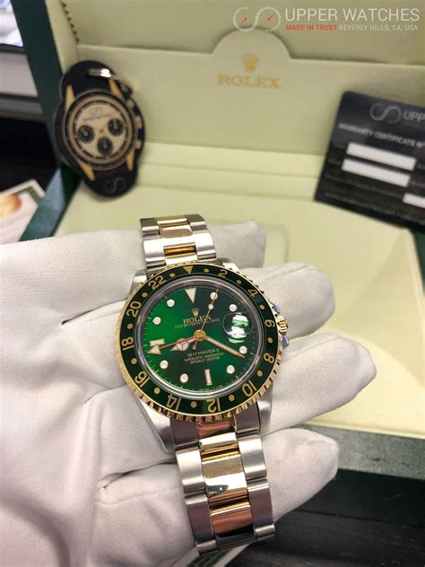 Rolex GMT MASTER II Gold & Stainless Steel 2 tones Green