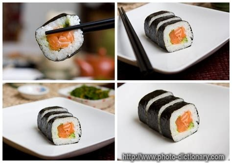 salmon sushi - photo/picture definition at Photo
