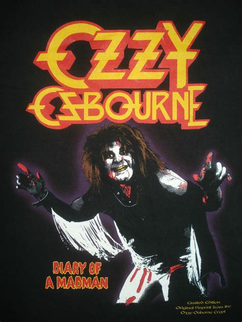 Vintage 90s OZZY OSBOURNE CONCERT T SHIRT Diary of a