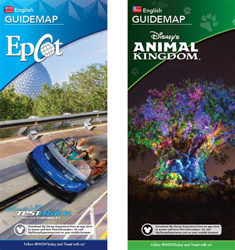 New park maps coming for Epcot and Disney's Animal Kingdom